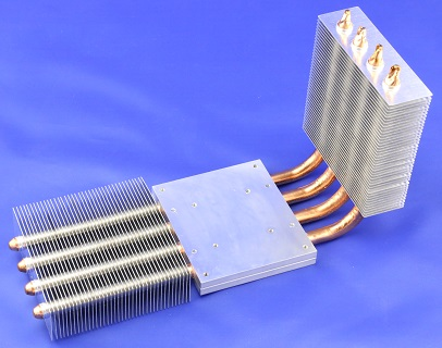 Heat Pipe with Aluminum Fins