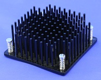 Round Pin Heat Sink with Push Pins