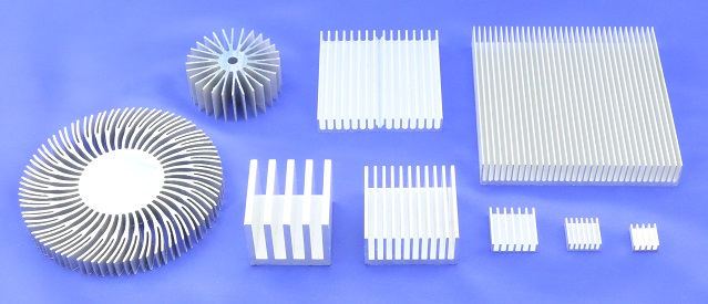 Extruded Plate Fin Heat Sinks