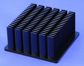 Elliptical Pin Heat Sinks Cold Forged From Pure Aluminum