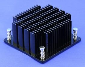 Elliptical Pin Heatsink with Push Pins