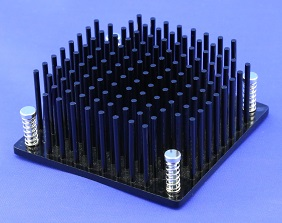 Round Pin Heatsink With Push Pins By Cold Forging