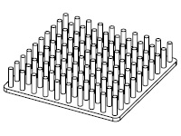 S801-5000-095 Cold Forged Round Pin Heat Sink