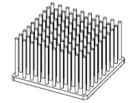 S801-5000-279 Cold Forged Round Pin Heat Sink